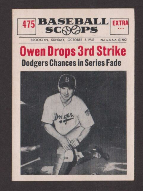 Details About 1961 Nu Card Baseball Scoops 475 1941 World Series Dodgers Yankees No Creases