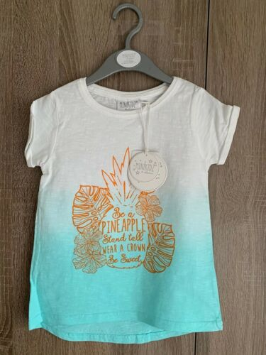 Green Pineapple NEW-Girls T-Shirt /& Leggings Outfits Blue Heart Pink Unicorn