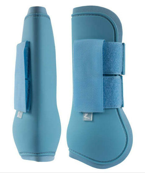 Horze Sheltand Size Open Front Tendon Exercise Jumping Turnout Boots Delphi bluee
