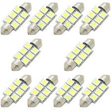 10PCS White 36MM 5050 6SMD Festoon Dome Map Interior LED Light bulbs C5W 6411 KY