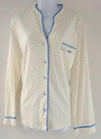 Charter Club Ivory Polka Dot Top Pajama Sleepshirt Women's Large