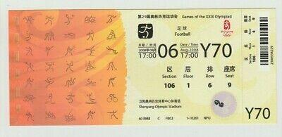 Ordentlich Orig.ticket Olympische Spiele Beijing 2008 Fussball Brasilien - Deutschland !