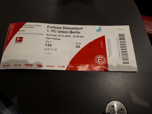 1.FC Union Berlin Sammler Ticket 19//20 Fortuna Düsseldorf
