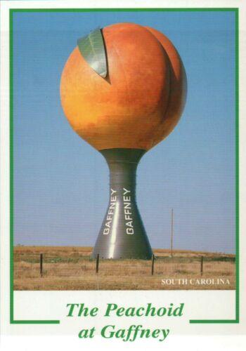 Water Tank in Shape of Peach The Peachoid at Gaffney South Carolina Postcard