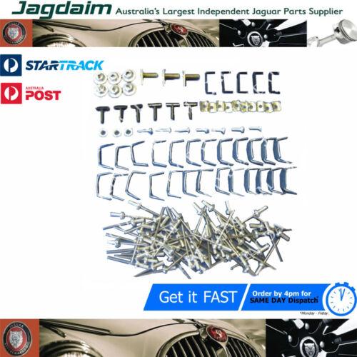 New Jaguar Daimler Mark 2 /& V8 Chrome Body Moulding Clip Set MLD001K