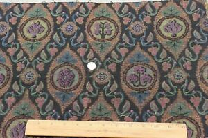 Antique-c1920-French-Cotton-Jacquard-Tapestry-Fabric-Sample-L-13-034-X-W-20-034