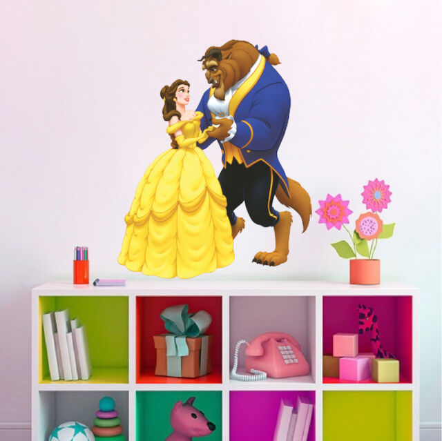 Beauty And The Beast Smashed Decal Wall Sticker Art Mural Disney Princess H649
