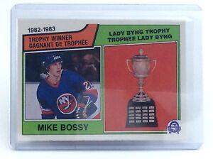 1983-1984-Mike-Bossy-205-New-York-Islanders-OPC-O-Pee-Chee-Hockey-Card-H701