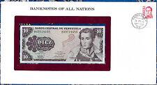 Banknotes of All Nations Venezuela 1981 P 61a 10 Bolivares UNC prefix B