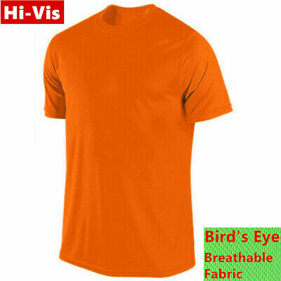 Activewear Clothing, Shoes & Accessories Obliging Hi Vis T Shirts High Visibility Safety Work Neon Orange Sports Wear Short Sleeve Demand Exceeding Supply
