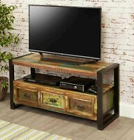 Urban Chic Reclaimed Wood Furniture Television Cabinet Stand Unit