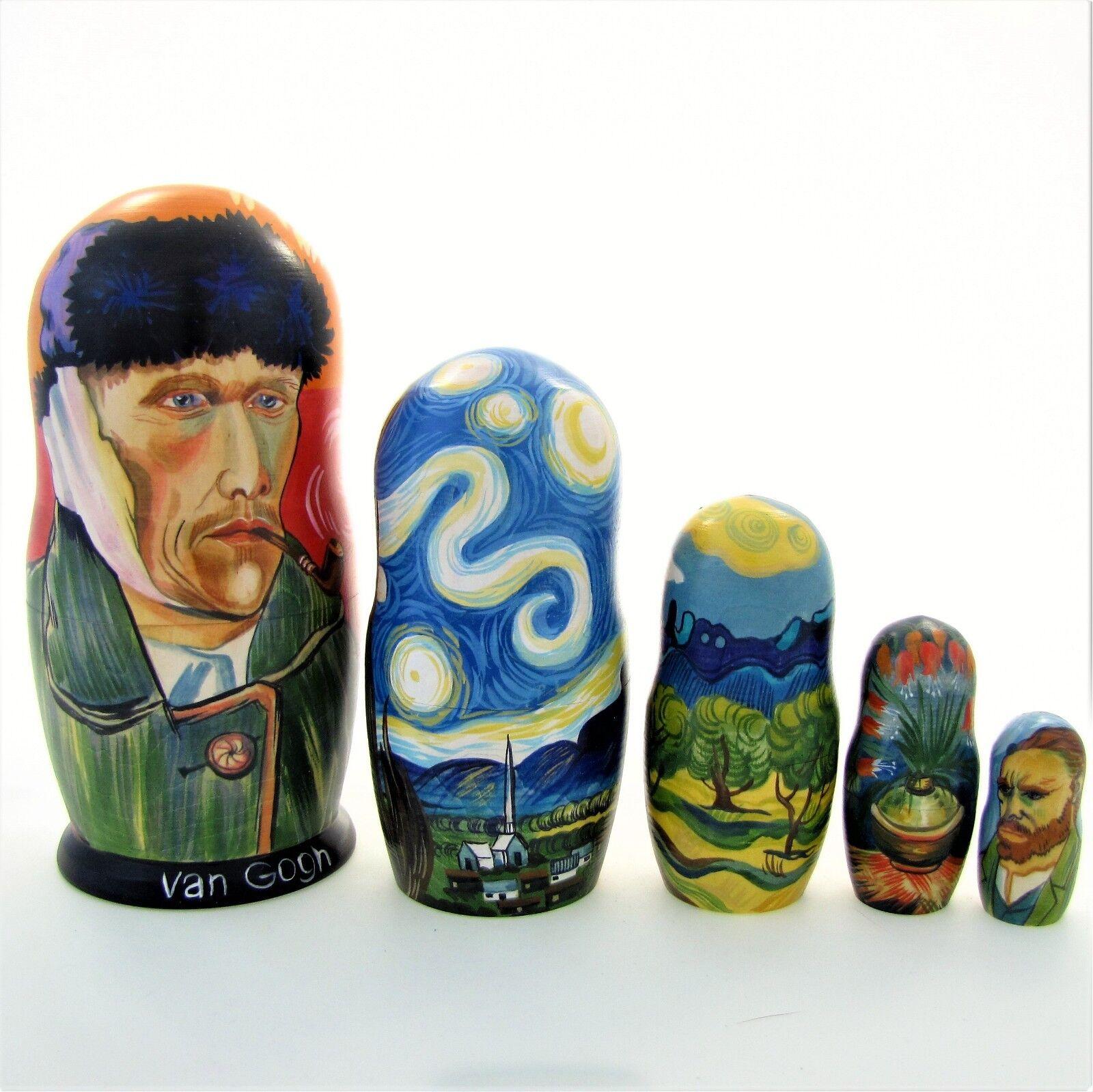 Poupées russes exclusive H19 Van Gogh Matriochka Russian Doll Matrioshka Bonecas