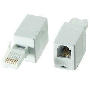 6 pin bt plug to rj11 female socket converter adapter fax. Black Bedroom Furniture Sets. Home Design Ideas