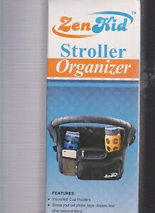 NEW IN BOX: UNIVERSAL FIT: Zen Kid Stroller Organizer