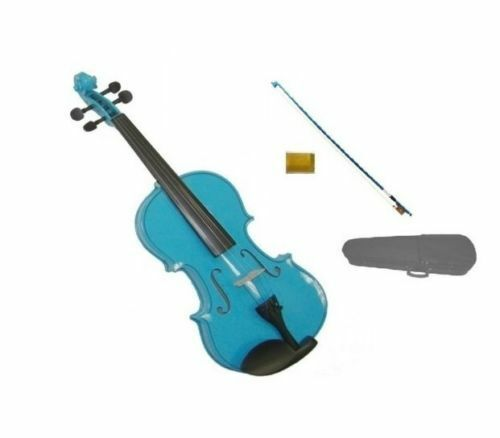 4 4 - 1 16 blueE VIOLIN & blueE BOW,CASEACOUSTIC STUDENT KIDS BEGINNER SCHOOL