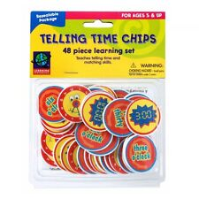 Telling Time Chips Math Manipulative Teacher Tool Analog & Digital Clock