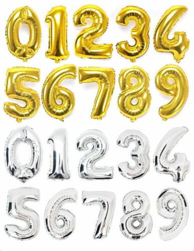 "30/"" LETTER Foil Number Balloons Air BalLoons Large Happy Birthday Ballons Party"