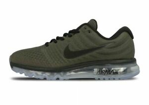 premium selection 3331d cdb67 Details about Mens Nike Air Max 2017 Running Shoes Size 8 8.5 9 Olive Green  Black 849559 302