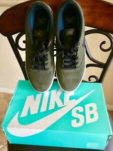 the latest e64cb 5b8ce Image is loading NIKE-SB-CHECK-SOLARSOFT-NEW-SUEDE-OLIVE-GREEN-