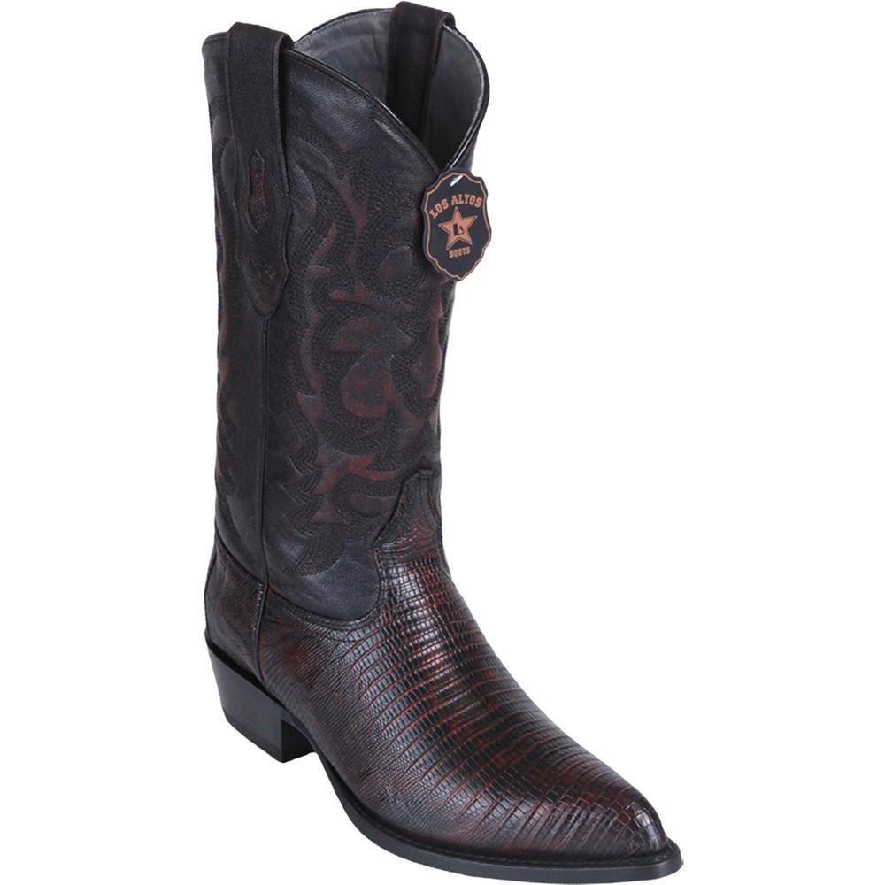 Mens Los Altos Genuine Teju Lizard Leather J Toe Boots Handcrafted