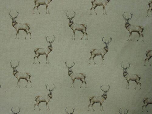 """1m//39/"""" glencoe stag matt  oilcloth 100/% cotton wipe clean pvc TABLECLOTH CO"""