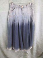 Soft Surroundings Ombre Denim Skirt Size Medium