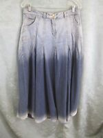 Soft Surroundings Ombre Denim Skirt Size Medium