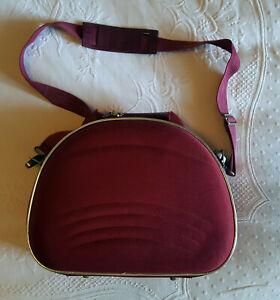 Beauty-case rigido da viaggio rosso lampone