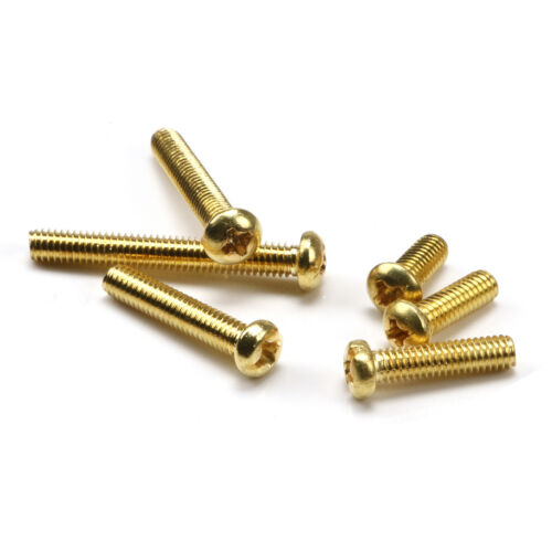 20-500PCS M2 M2.5 M3 M4 Brass Round Head Phillips Screws Pan Head Machine Screws