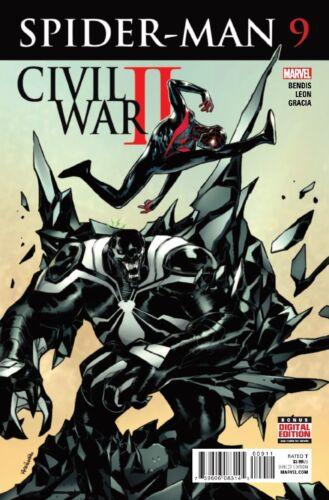 SPIDER-MAN #9 CIVIL WAR II NEAR MINT 2016 UNREAD MARVEL COMICS bin-2017-7101