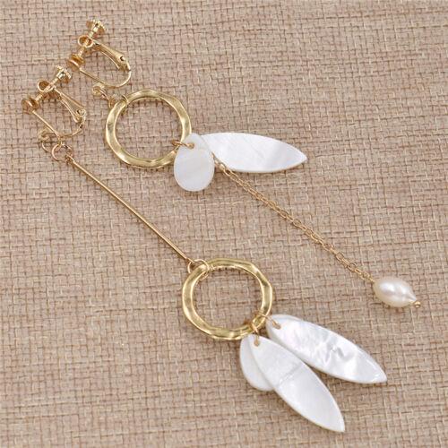 Elegant Asymmetric Dangle Simulated Pearl Earring Women Lovely Chic Gift Evening