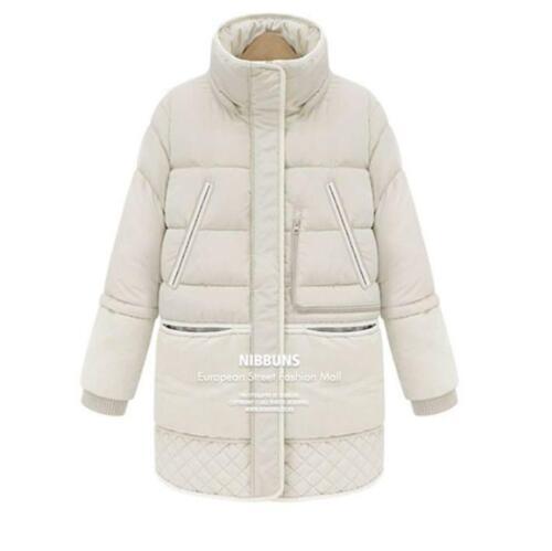 Women/'s Hooded Warm Snow Overcoat Fleece Jacket Outwear Padded Winter Coat E46