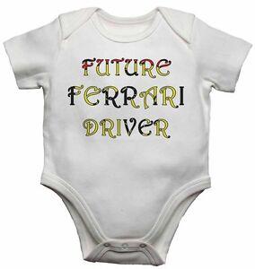 Future Ferrari Driver - Personalized Baby Vests Bodysuits Boys Girls - White