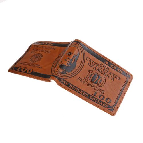 Portafogli da uomo Portafoglio portafogli in carta di credito in pelle con sta