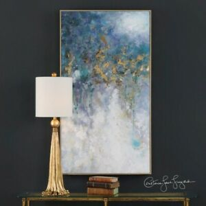 Floating - 52.75 inch Abstract Art - 28.75 inches wide by 2.25 inches deep  Hand