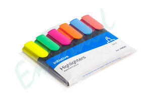 Assorted-Premium-Initiative-Highlighter-Fluorescent-Pens-6-Bright-Colours