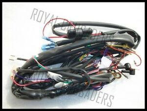 royal enfield new complete wiring harness 12v ebay rh ebay in wiring harness for royal enfield classic 350 Wiring Harness Connector Plugs