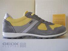 Geox sneakers uomo U Xity A pelle/textyle Lime/Stone scarpe n.45 Eu/12US €122