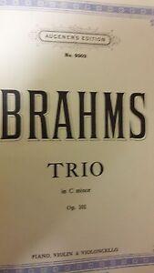 Brahms: Trio In C Minor: Musique-afficher Le Titre D'origine