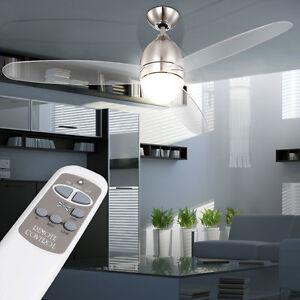 Das Bild Wird Geladen Design Ventilator Wohnzimmer Kuehler Licht Deckenventilator Luefter