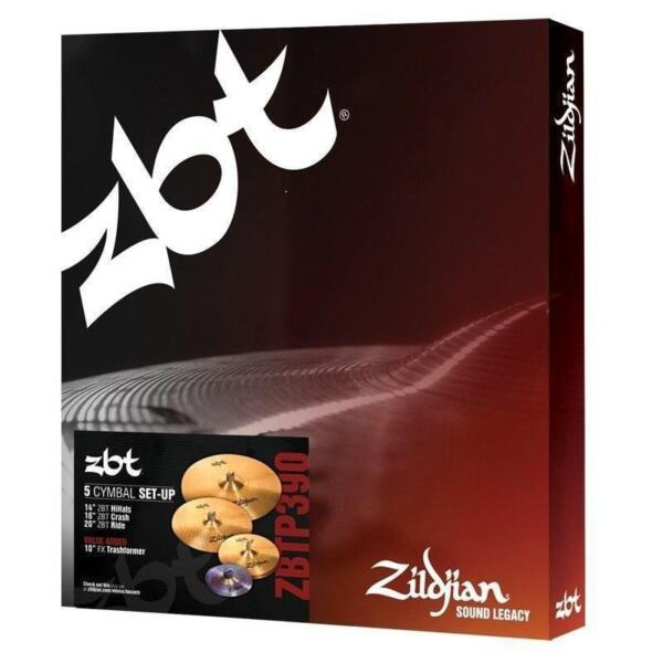 zildjian zbt 390 series super cymbal pack for sale online ebay. Black Bedroom Furniture Sets. Home Design Ideas