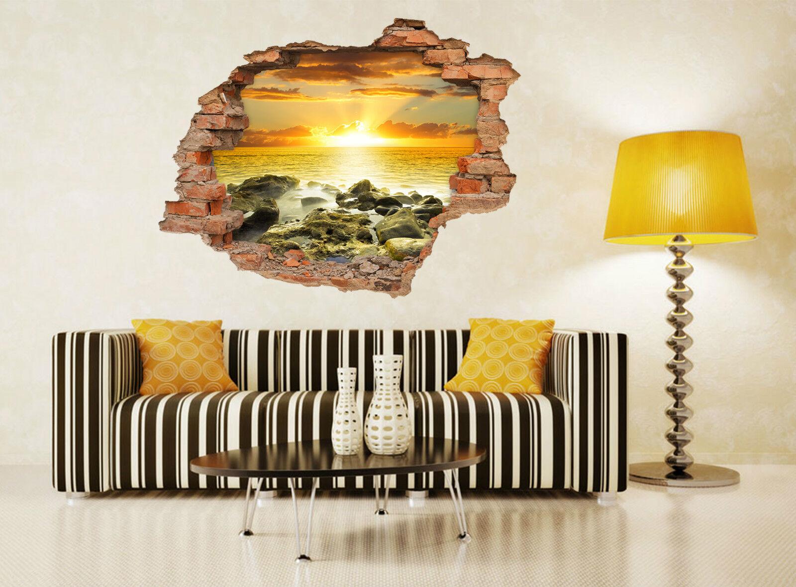 3D Ocean Sky 523 Mauer Murals Aufklebe Decal Durchbruch AJ WALLPAPER DE Lemon
