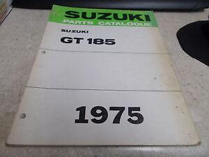 OEM Suzuki Parts Catalogue 1975 GT185