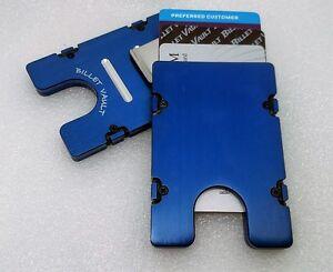 RFID Protection Plain Front Blue Billet Aluminum Wallet//Credit Card Holder