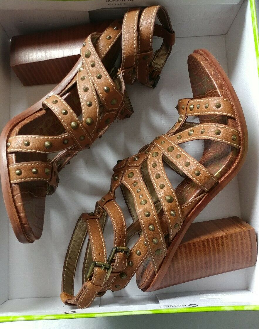 171022956f23a Sam Edelman Keith Brown Studded Gladiator Saddle Sandals Women s 9.5 for  sale online