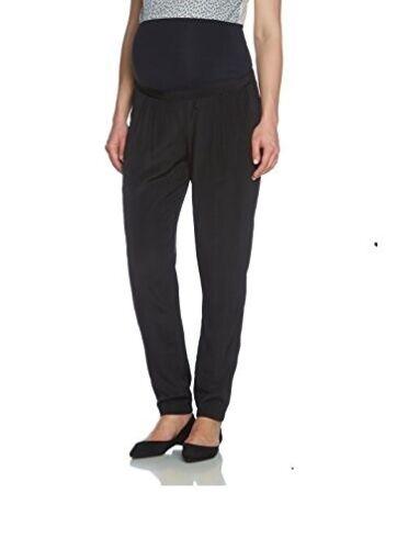 Mamalicious Women Megane Woven Loose Pants Harem Maternity Trousers UK 3 Size M