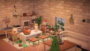 ACNH Rustic Ironwood Kitchen Design Animal Crossing | eBay on Ironwood Animal Crossing  id=58779