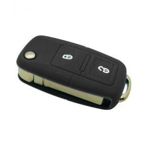 Housse-de-cle-silicone-Volkswagen-2-boutons-Couleur-Noir