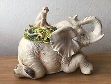RARE Fitz & Floyd Capetown Elephant & Monkey Cookie Jar