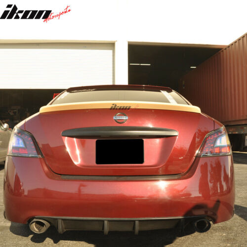 Fits 09-15 Nissan Maxima A35 Sedan 4Dr ST Style Unpainted Trunk Spoiler ABS